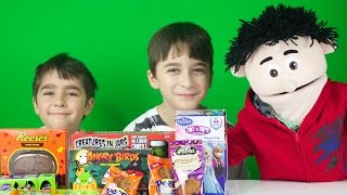 Epic Halloween Candy Opening with Travi The Puppet.