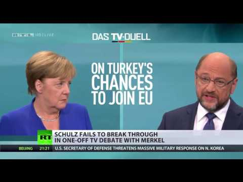 'Turkey shouldn't become EU member': Merkel agrees with debate rival Schulz