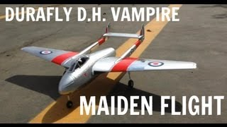 Durafly D.H. 100 Vampire - Maiden Flight