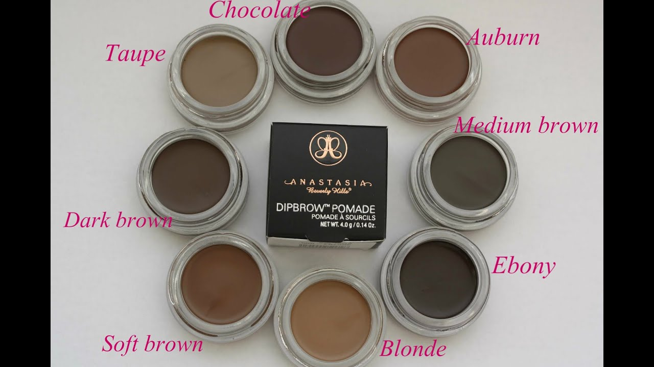 Anastasia Dipbrow 8 Colours Swatches Dipbrow Pomade Abh
