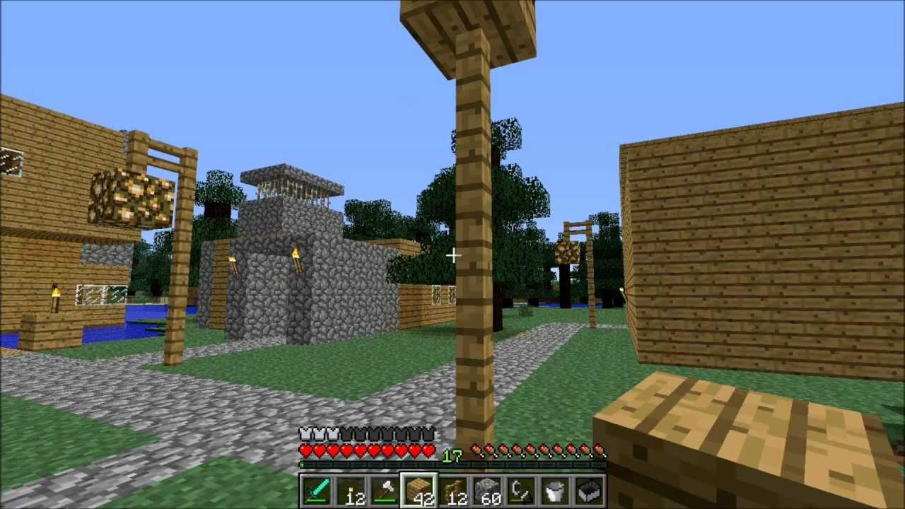 Minecraft Lamp Post How To Youtube