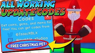 EVERY SECRET *CHRISTMAS UPDATE* CODE in BUBBLE GUM SIMULATOR! (Roblox)