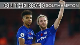BEHIND THE SCENES FOR A HUGE AWAY VICTORY AT ST MARY'S! | ON THE ROAD: SOUTHAMPTON V EVERTON