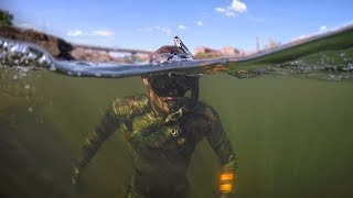 Found Boat Motor and Anchors while Swimming in River! (Freediving)  DALLMYD