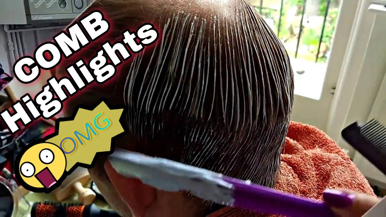 5 Hair Comb Highlightseasy Tutorial Youtube