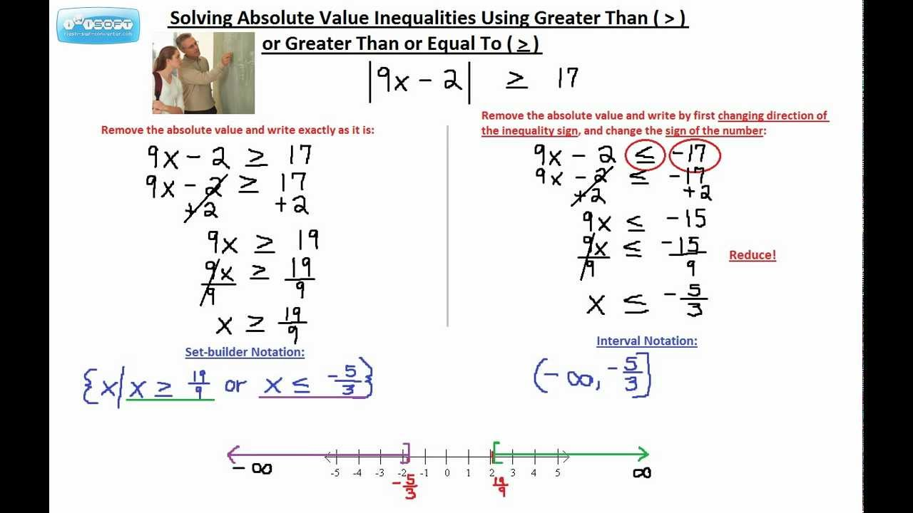 Solving absolute value inequalities using greater than or greater solving absolute value inequalities using greater than or greater than or equal to 1 buycottarizona Gallery