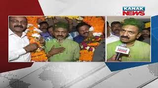 BJD MLA Candidate Sarada Prasad Nayak Gets Grand Welcome In Rourkela thumbnail