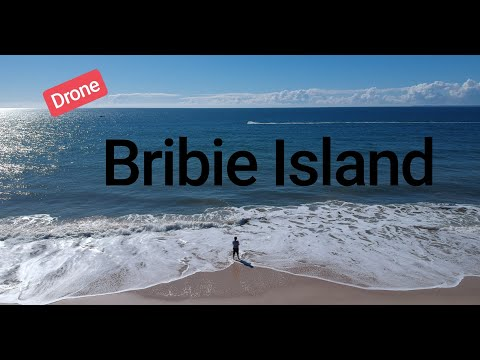 BRIBIE ISLAND BEACH - Drone Footage Of Beaches On The Island Near Brisbane, Queensland, Australia