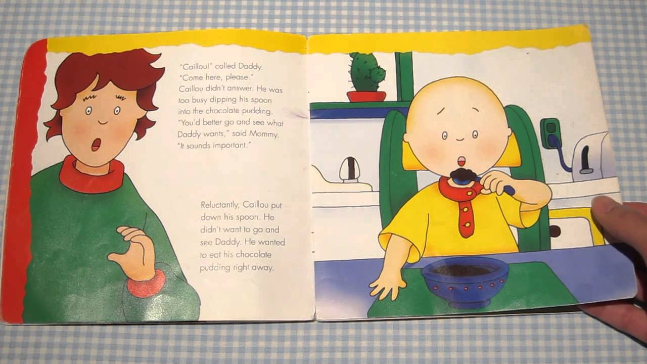 quick reviews of kids books caillou tidies up his toys youtube