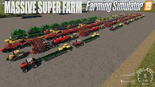 Building a MASSIVE $42 Million Dollar SUPER Farm on NorthWind Acres #1 | FS19 TIMELAPSE