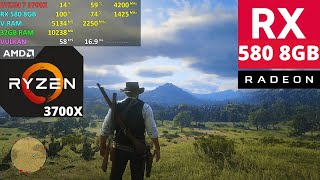 Red Dead Redemption 2 - Free Roam | RX 580 8GB + Ryzen 7 3700X | Custom Settings