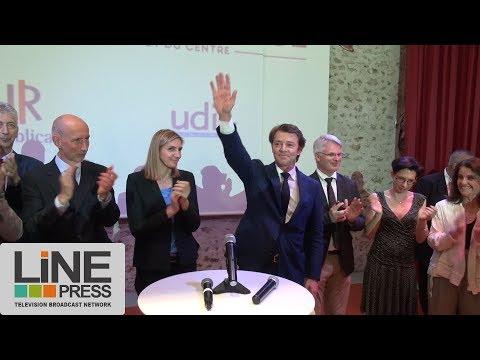 François Baroin bat le pavé des législatives en Essonne / Limours (91) - France 22 mai 2017