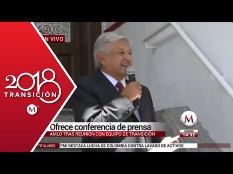 AMLO ofrece detalles sobre los proyectos para su proximo gobierno