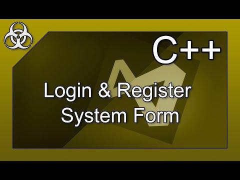 Login System with Registration & Filestoring & Filesystem C++ Tutorial Visual Studio