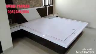 "Bedroom full Furniture work LCD UNIT, interior Bed 6""×6"",interior Kabat with maliya....."