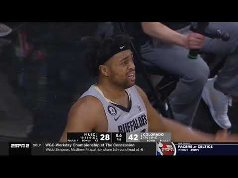 USC vs Colorado Highlights 2021 College Basketball Game Highlights