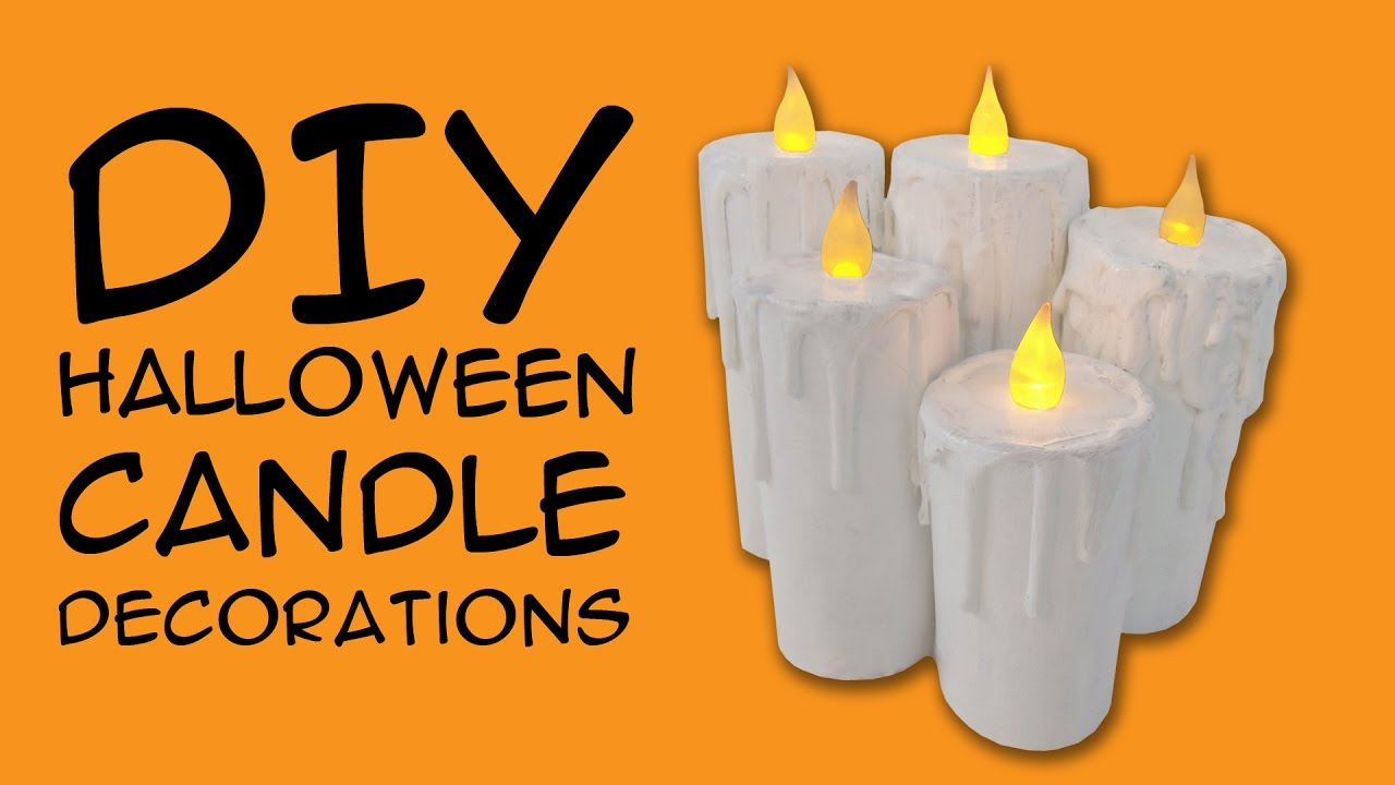 Diy Halloween Decoration Candles For Halloween Lovers A Craftymcfangirl Com Tutorial Youtube