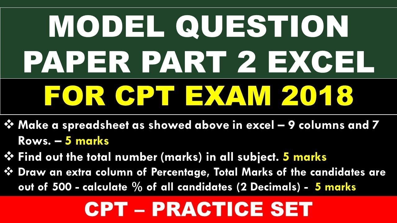 model question paper cpt exam 2018 kvs nvs exam youtube