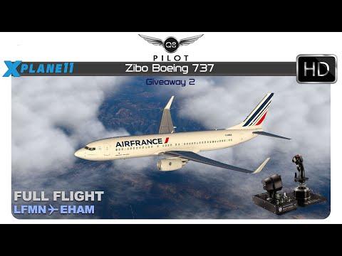 X-Plane 11 Zibo Boeing 737 LFMN EHAM Win the Hotas Warthog