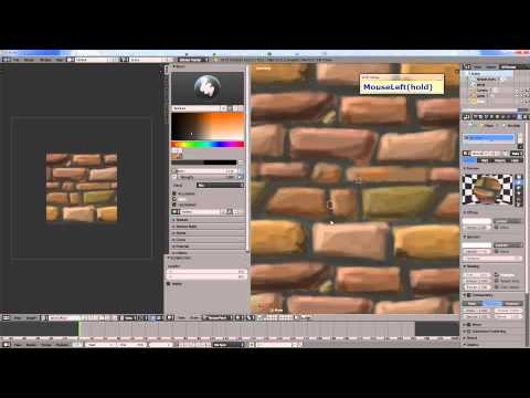 Create hand painted tileable textures using Blender