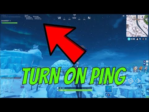 HOW TO SHOW YOUR PING IN FORTNITE (DECEMBER 2018)