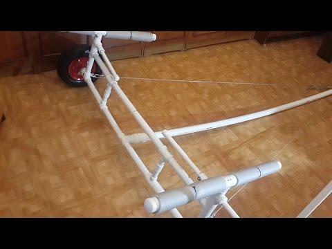 . Полная версия изготовления. ТЕЛЕЖКА для ПВХ лодки своими руками из полипропиленовых труб.