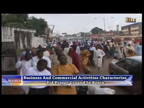 Business and commercial activities characterize Eid prayer ground in Benin