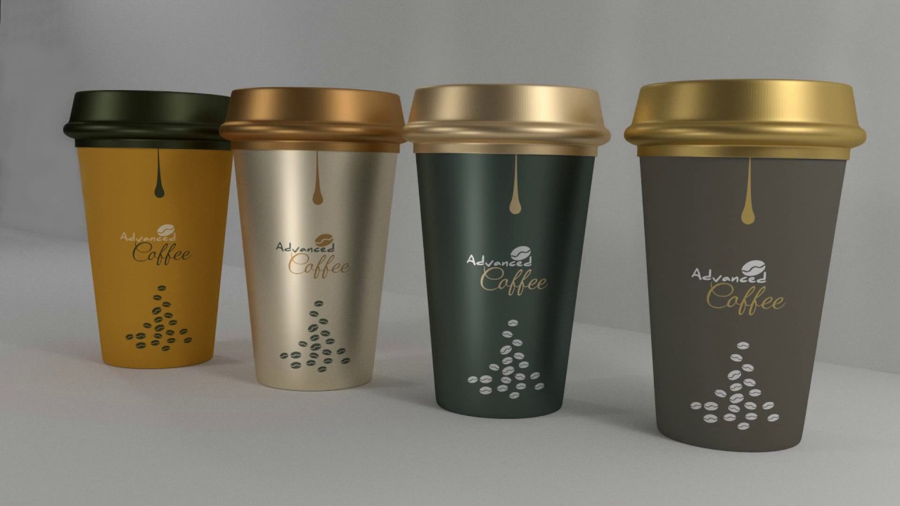 Tutorial packaging design illustrator cc coffee cups 3d design speed art