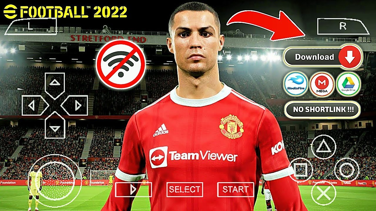 Download EFOOTBALL PES 2022 PPSSPP Android English Version New Update Kits & Transfer 2021/2022
