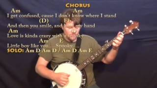 Spooky (Dusty Springfield) Banjo Cover Lesson in Am with Chords/Lyrics Mp3