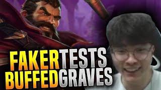 Faker test The New Buff on Graves - SKT T1 Faker Plays Graves Jungle  SKT T1 Replays