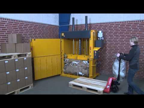 Bramidan B-series_Vertical Balers For Cardboard And Plastic Waste_May 2013