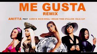Anitta ft. Cardi B, Nicki Minaj, Megan Thee Stallion & Doja Cat - Me Gusta (Remix Rappers)