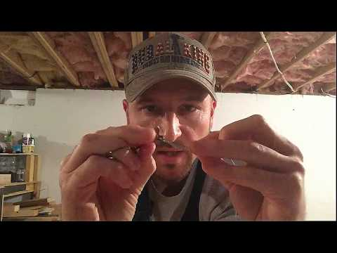 How to tie on a fishing hook. Simple and fast.