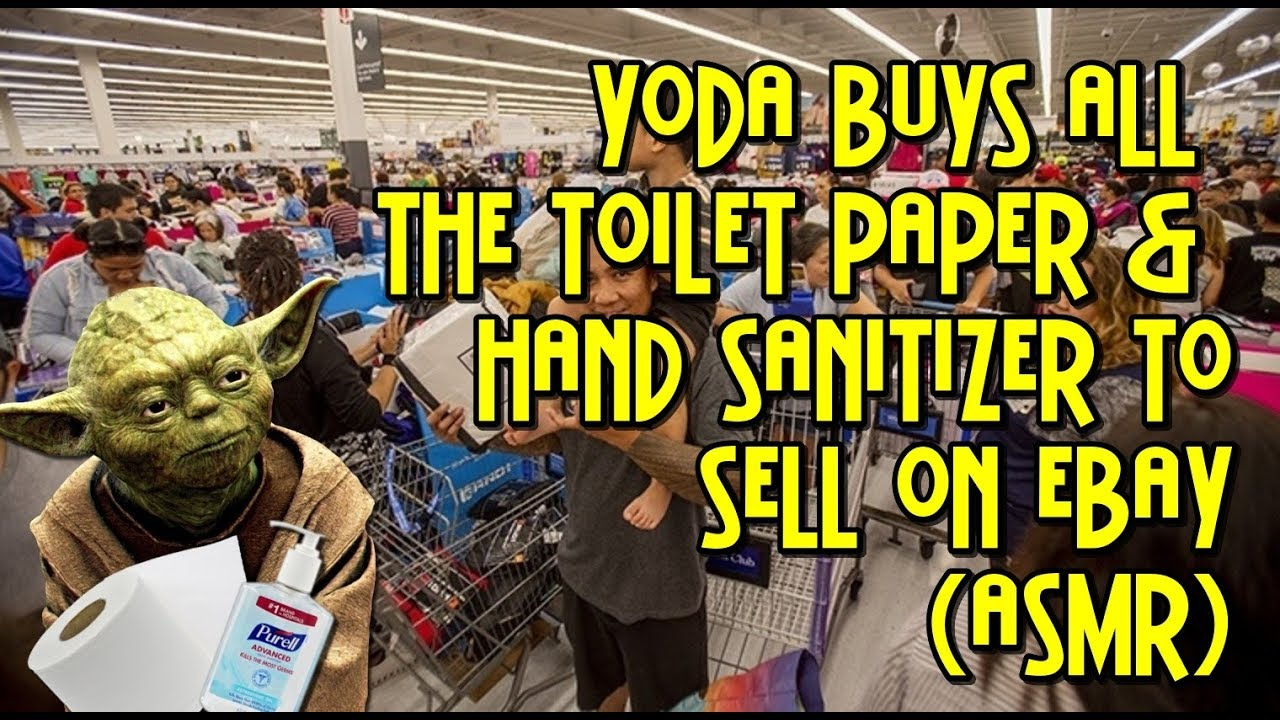 Yoda Buys All The Toilet Paper And Hand Sanitizer From Target