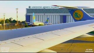Uzbekistan B767-300ER. Посадка в Ташкент.