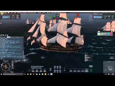Naval action #1 // Sweden fleet vs British fleet