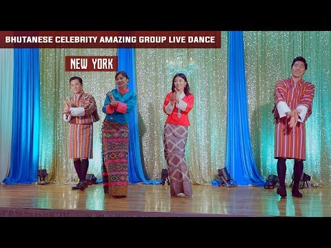 Bhutanese Celebrity amazing live group dance performance in New York, 2017