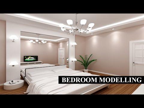 3Ds Max - Bedroom Modeling Tutorial+Vray Rendering+Photoshop 720p