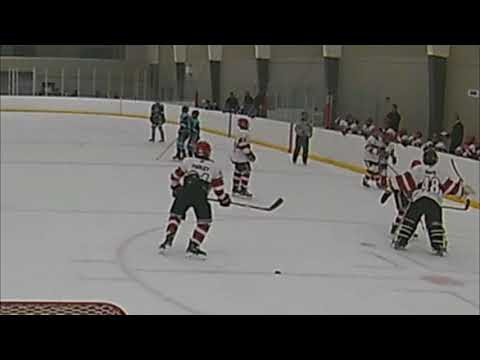 Antoine's big hit at the end of game against Barrie