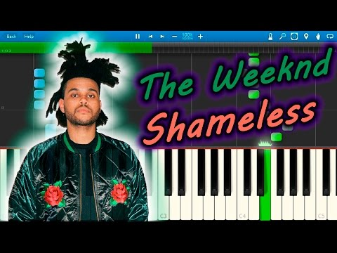 The Weeknd - Shameless [Piano Tutorial] Synthesia