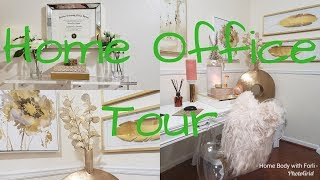 *New*Glam Gold and  Peach Home Office Tour