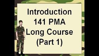 Introduction 141 PMA Long Course (Part 1)