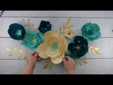 Make a Stunning Paper Flower Backdrop - Free Paper Flower SVG Files