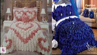 Beautiful Designer bed sheets/ Bridal Bed sheets /luxury Bed sheet Designs 2018
