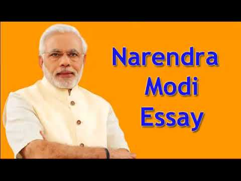 essay on narender modi in english