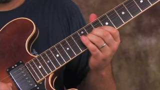 Santana - Black Magic Woman - how to play on electric guitar - pt 2