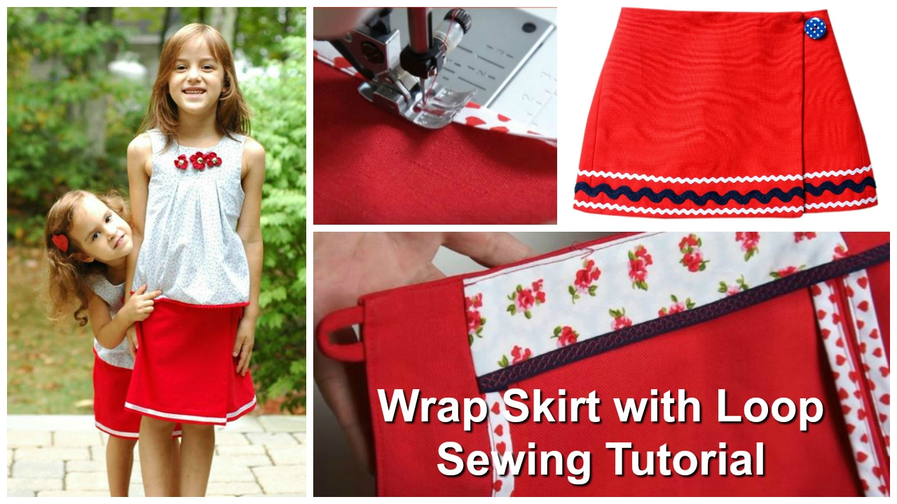 Wrap Skirt with Rouleaux Loop Fastening - Sewing Tutorial - YouTube