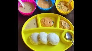 3 Peanut Chutney varieties For Idli, Dosa - Verkadalai chutney - Palli Chutney