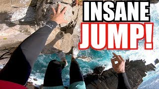 INSANE 105 FOOT CLIFF JUMP IN MEXICO (Sketchy Climb Up * No Rope!)
